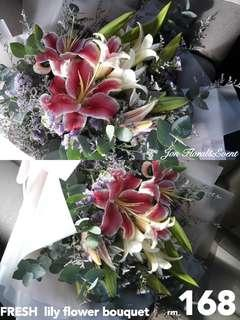 FRESH  lily flower bouquet
