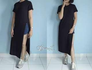 Slit dress / sexy dress / casual dress