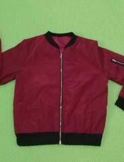 📌SALE reprice jacket bomber maroon