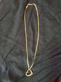 Tiffany-Inspired (Pawnable) Yellow Gold (14k Gold) Necklace