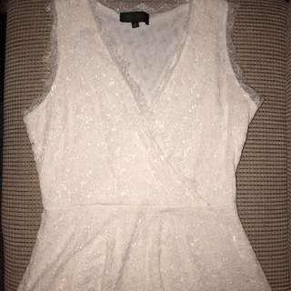 Lace white dress, worn once, perfect condition.