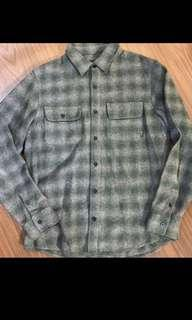 Men's plaid flannel wool