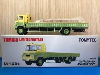 Tomytec Tomica Vintage LV 108b 1:64 長型貨車 市場罕見 絕版 新淨 附原裝四貨箱 nissan