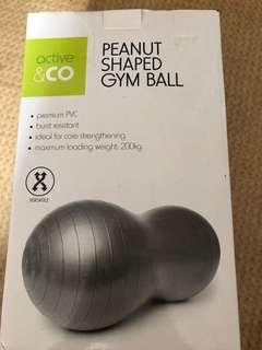 Gloves and fitness bean shaped ball