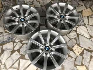 BMW原廠18吋535鋁圈F10升級拆下,8J五孔120ET30,F30
