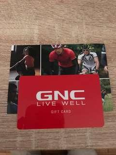 GNC gift card value $84.74