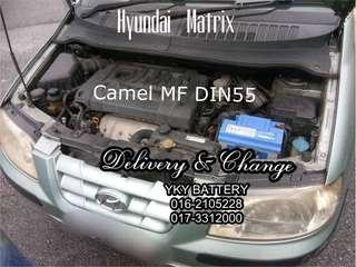 Kereta Bateri Hyundai Matrix , Camel MF Din55