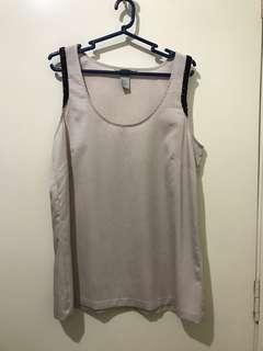 H&M Beaded Sleeveless Top