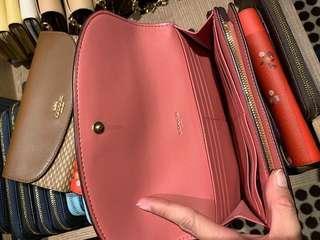 Coach flap long wallet