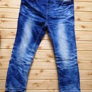 🚚 【sigmanet家庭百貨】八成新孩童中性牛仔褲,長度:83公分 NO:17
