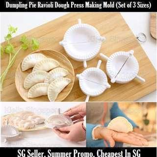 [Kibot]Set of 3 Sizes CNY Shui Jiao Gyoza Dumping Wanton Dough Press Pie Ravioli Eempanada Making Mold Mould Kitchen DIY Tool