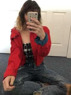 d7acaa1f6b2 Red denim jacket   I am gia crop