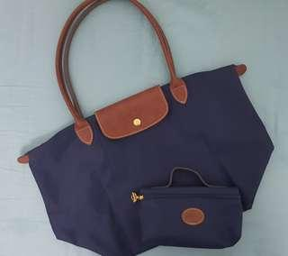 BNWOT Longchamp Le Pliage (large) with FREE Cosmetic Pouch #XMAS25
