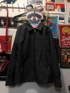 H&m 灰色格仔外套