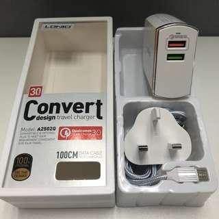 LDNIO QC3.0智能快速充電器(香港三腳插座)
