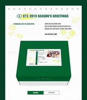 [P/O LOOSE ITEMS]2019 BTS SEASONS GREETINGS