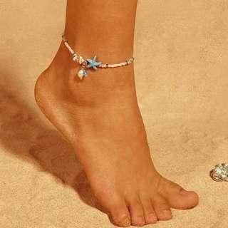 Gelang Kaki Pantai / Bintang Laut / Starfish Sea Ankle