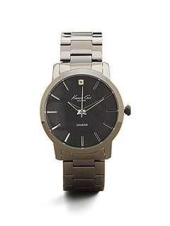 Men's Kenneth Cole Stone Accent Black Steel Black Dial 42mm Watch KC15114003