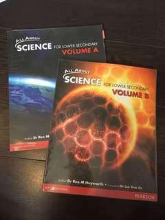 All About Science (for lower secondary) Volume A and B