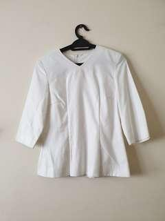 White Top with Shoulder Padding #PayDay30