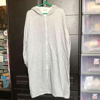 淺灰色長外套 衛衣外套