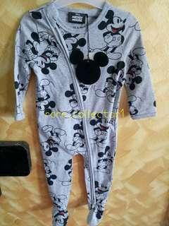 🎉SALE 🎉 New Cotton On Baby Mickey Grey Sleepsuit #DEC50