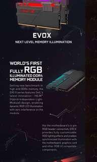 Geil Evo X rgb ddr4 ram 2400mhz 2x8gb