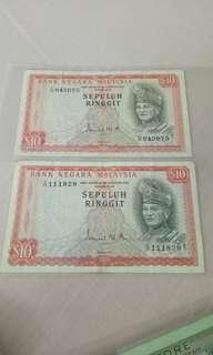 两张一起卖,马来西亚旧钞票10块
