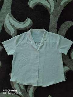 Beige Shirt Top