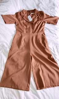 [WTS] KOREAN STYLE BROWN JUMPSUIT OFFICE