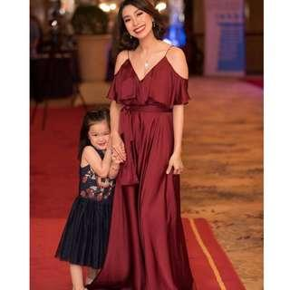 Marron Red Long Gown (Karimadon)