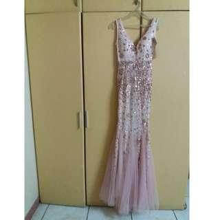 PINK MERMAID GOWN (KARIMADON)