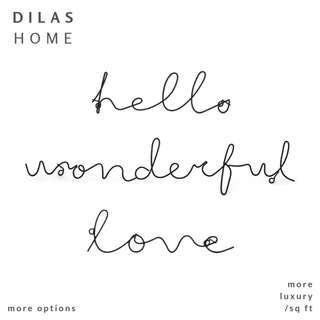 DILAS HOME | Hello Wonderful Wire Script Wall Decor