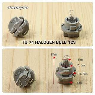 T5 Twist Lock Halogen Bulb         Emitting Color 4.3k Warm White       Usage : Speedometer / Dashboard