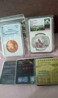 两枚大熊猫银币一起卖90块  欢迎😬