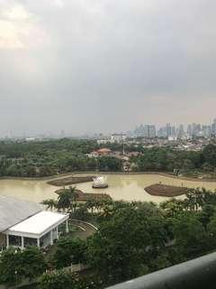 apartemen green palace kalibata city view danau