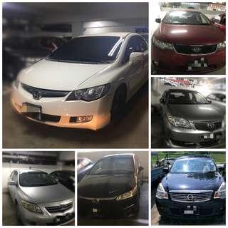 Toyota Altis 1.6. No Deposit daily rental. HP:81448822