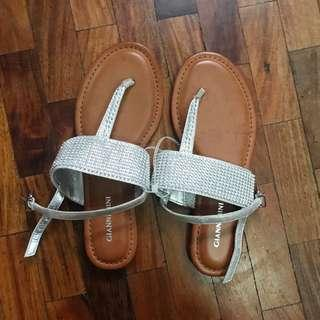 Gianni Bini Brown and Silver Thong Sandals