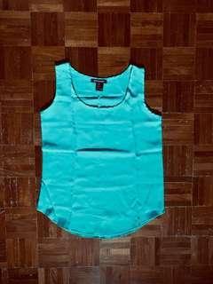 🚚 BN Turquoise Chiffon Sleeveless Top