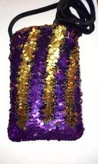 Sequins sling bag