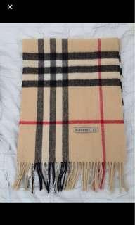 Authentic Burberry check cashmere scarf - excellent condition