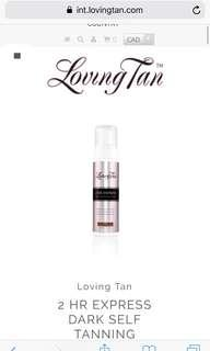 Loving tan 2h Express dark self tanner