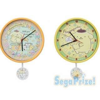 Sanrio Pompompurin Swing wall clock 布甸狗 搖擺掛鐘