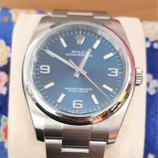 LNIB Rolex Blue Dial Oyster Perpetual 116000
