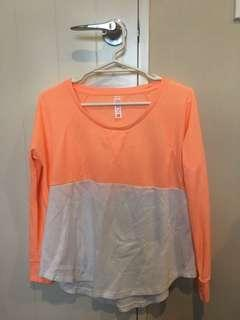 Peach and white long sleeve