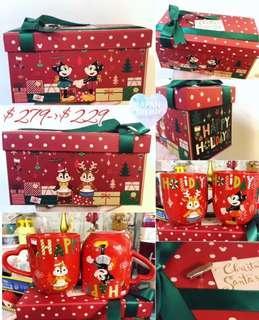 聖誕禮物 日本Disney chipdale Mickey Minnie 音樂盒茶杯套