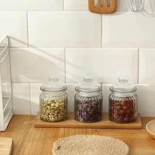 🚚 密封罐乾果雜糧收納儲存罐子零食瓶子茶葉罐糖果罐儲物罐玻璃瓶