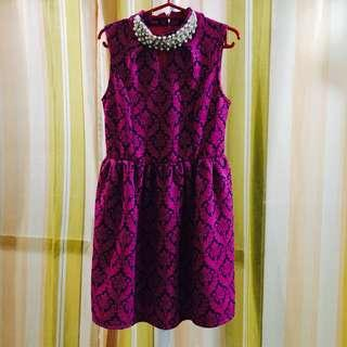 Brocade Pearls Party Dress