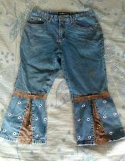 🚚 牛仔褲 牛仔7分褲