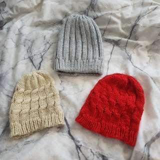 Woollen beanies